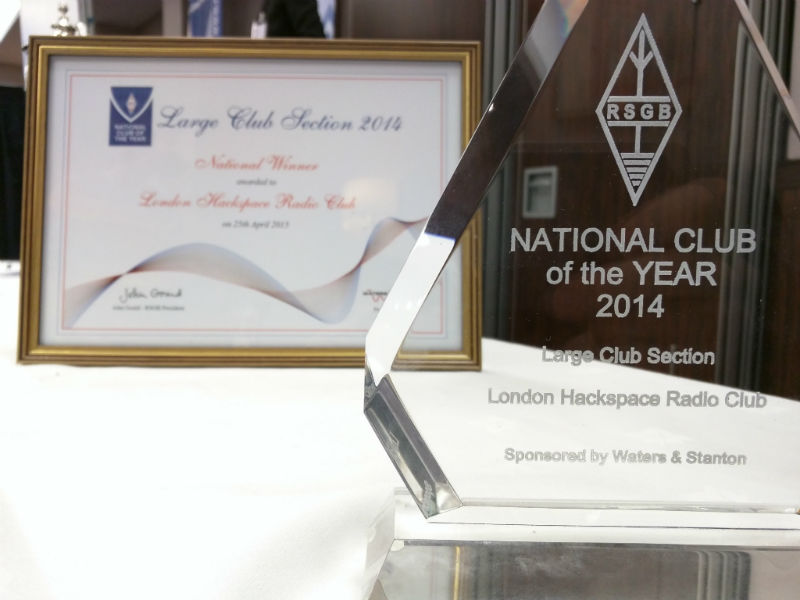 London Hackspace Radio Club - RSGB National Club of the Year 2014 (large club section)