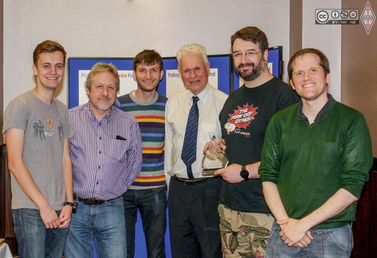 LHS Radio Club receiving the RSGB Club of the Year 2014 award. Photo courtesy of RSGB